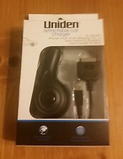 Uniden Retractable Car Charger 30 pin Apple connector & micro USB connector