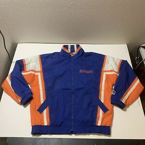 Vintage 90's Starter Adult Sz L Blue Orange Florida Gators Windbreaker Jacket