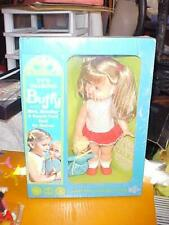 "Vtg Mattel 1960's Barbie Family 12"" Talking Buffy w Mrs. Beasley! Nrfb Works!"