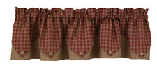 Window Curtain Layered Valance - Sturbridge in Wine by Park Designs