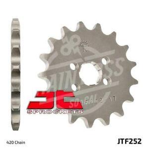 JT Sprockets 420 Front Sprocket Steel 17 Teeth Natural JTF252.17