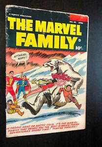 The MARVEL FAMILY #82 (Fawcett Comics 1953) -- Golden Age -- VG-