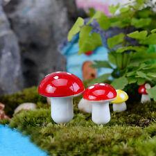 10 Pcs Mini Mushroom for Miniature Fairy Garden Decoration Accessories Craft