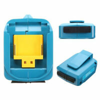 2USB Ports Mobile Phone Charger Adapter Li-ion Battery For Makita BL1830/1430