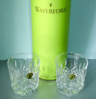 Waterford Crystal Giftology Lismore Tumbler 2 Piece Set 9oz #4000169 New In Box