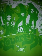 Tyler Stout Dolorean Tour Blank Poster Silkscreen Print 2004