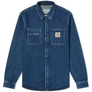 CARHARTT WIP Salinac Shirt Jacket - Medium Blue Stone Washed Brand New With Tags