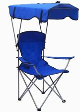 Portable Folding Canopy Chair | Cup Holder | Bag | Beach Camping Hiking | Blue