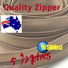 Beige Continuous Zippper & Slides (size no3) 5 metres Zipper Upholstery Cushions