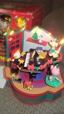 NEW Ultra RARE Enesco Garfield On Grand Piano Xmas Multi-Action/Lites Music Box