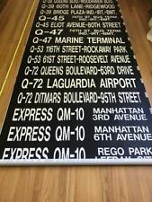 Vintage Triboro Coach Queens New York Front Bus Rollsign La Guardia Airport