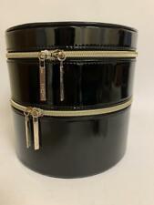 Lancome Makeup Cosmetic Bag Double Layer Black Train Case W/Mirror Box 2019