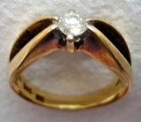 VERLOBUNGSRING GOLD 585/f. BRILLANT ca. 0,20 ct. NEU GEFASST ca. 5 Gramm RW~56