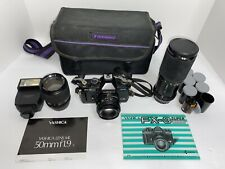 Yashica Fx-3 Super 2000 Slr Film Camera Bundle With Accessories *untested*