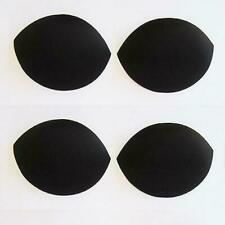 Black Oval Foam Removable Bra  Inserts Pads for Sports or Swimwear - 2 pair