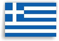 Greece Flag Wall Sticker, Greek Ελλάδα ελληνικά vinyl decal sticker 3 size