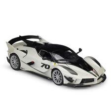 Bburago 1:18 Ferrari FXX K EVO NO.70 Diecast Model Racing Car White New In Box