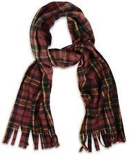 Bufanda cuadros tartan Marrón-suave y acogedor Fleece bufandas con flecos