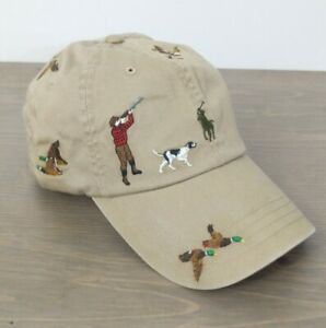 Polo Ralph Lauren Embroidered Mallard Duck Hunting Khaki Hat Rare HTF Cap BNWT