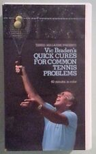 vic braden's QUICK CURES FOR COMMON TENNIS PROBLEMS  VHS VIDEOTAPE