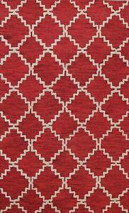 5x8 Trellis Modern Oriental Area Rug Hand-tufted Contemporary Wool Foyer Carpet