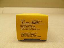 1 NIB HUBBELL HBL8300I 20A AMP 8300I DUPLEX RECEPTACLE NEMA 5-20R 20A 125V