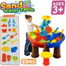 Kids Children Sand &Water Round Table Stool Beach Garden Play Toy Bucket Set