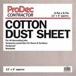 Prodec 12ft ' X 9ft Impresario Cotone Twill Polvere Foglio Floors Cover
