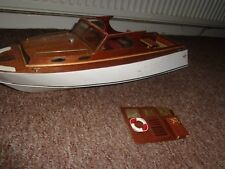 Superb Large Launch /Day Boat /Speed boat R/C Model Boat ( Restoration Project )