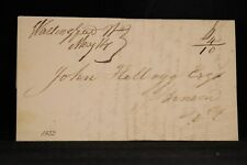 Vermont: Wallingford 1833 Stampless Cover, Ms, 6c + 4c = 10c Rate to Benson
