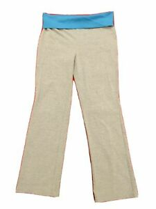 Danskin Girl Work Out Yoga Pants Size L 10-12 Gray Blue