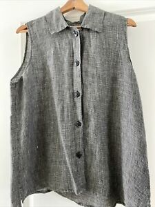 Flax sleeveless blouse M