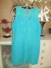 Robe bi-matière turquoise Lady Captain = Miss Captain taille 42 : TBE