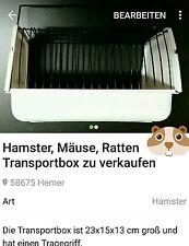 TRANSPORTKÄFIG für Hamster, Mäuse, Ratten ect. 23 x 15 x 13 cm groß