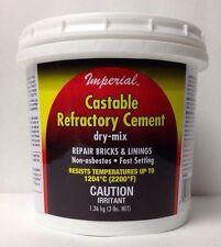 Castable Refractory Cement 3lb Clay outdoor pizza oven parts firebox repair, dry