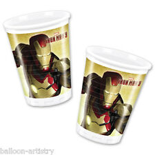 8 Marvel Iron Man 3 Party 200ml Disposable Plastic Cups