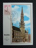 FRANCE MK 1973 EUROPA CEPT BRÜSSEL RATHAUS MAXIMUMKARTE MAXIMUM CARD MC CM c2498