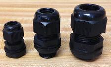 """10 Strain Relief Cord Grip Gland w/nut/gasket  U PICK SIZES 1/2"""", 3/8"""", 1/4"""" NEW"""