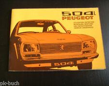 Betriebsanleitung Instructieboekje Manuale Operatore Peugeot 504 L, 03/1974