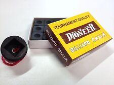 Pool Snooker Billiard Cue Tip Table Black Chalk Black Rubber chalk holder