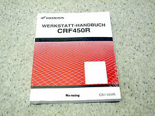 HONDA CRF 450 R ,  ab 2007 , Werkstatthandbuch Reparaturanleitung