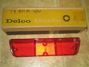 NOS GM Delco Guide 1973 Pontiac Lemans Station Wagon Tail Light Lamp Lens