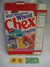 1994 Wheat Chex LION KING cereal box + premium POGS set Disney RARE 1990s item !