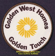 LMH PATCH Badge  GOLDEN WEST HOMES TOUCH Modular Mobile Manufactured Houses Home