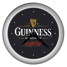 New Wall Clock (SILVER) Guinness Draught Wall Clock Rare Design!