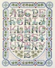 Alfabeto Floral Sampler Cross Stitch Kit-Janlynn Platinum Collection