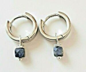 Kleine Mini Creolen Wechsel Einhänger Edelsteine versilbert 925 Silber