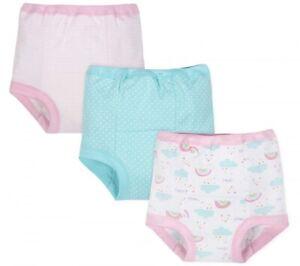 Gerber Girls Organic Cotton 3-Piece Training Pants.. Size 3T..NEW!!!
