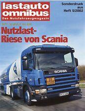 Sonderdruck Lastauto Omnibus 5 2002 Test Lkw Scania P 114-380 Testbericht report