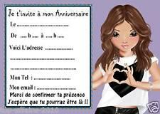 5 cartes invitations anniversaire  Top Model 05